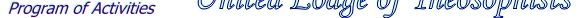 View The Current Program of Activities